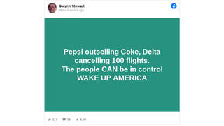 Fact Check: Boycott Did NOT Cause Pepsi To Outsell Coke And Was Not Cause Of 100 Cancelled Delta Flights