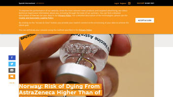 Fact Check: Risk of Dying From AstraZeneca Is NOT Higher Than Of COVID-19 In Norway