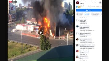 """Fact Check: """"Live"""" Video Does NOT Show Live Gas Station Explosion"""