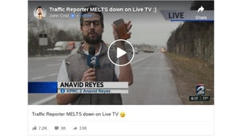Fact Check: Traffic Reporter Did NOT Melt Down On Live TV: It's A Comedy Sketch