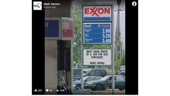 Fact Check: This ExxonMobil Gas Station Sign Is NOT Real