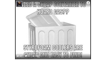 Fact Check: Styrofoam Coolers Are NOT Cheap Way To Hoard Gasoline