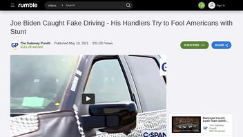 Fact Check: Joe Biden Was NOT Caught 'Fake Driving' During His Test-Drive Of Ford's Electric F-150