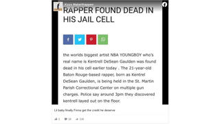 Fact Check: Rapper NBA YoungBoy NOT Found Dead In His Jail Cell