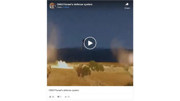 Fact Check: This Video Is NOT Footage Of Israeli Defense System