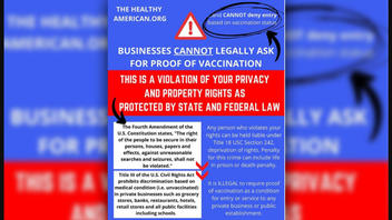 Fact Check: In Most Of The United States It Is NOT Illegal For A Private Business To Ask For Proof Of Vaccination