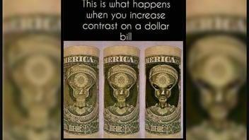 Fact Check: An Image Of An Alien Is NOT Hidden In Plain Sight On A Dollar Bill