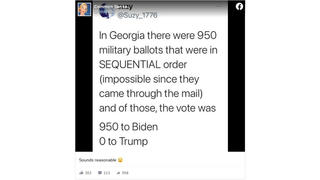 Fact Check: Batch Of 950 Military Ballots For Biden In Fulton County, Georgia, Is NOT Proof Of Election Fraud