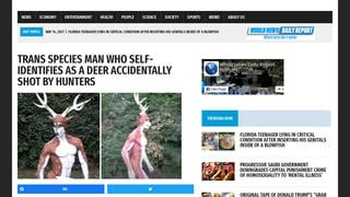 Fact Check: Story About Trans Species Man Self-Identifying As Deer Being Shot By Hunters Is NOT Real
