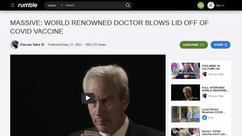 Fact Check: Video Promising To Blow The Lid Off COVID-19 Vaccines Does NOT Stick To True And Verified Statements