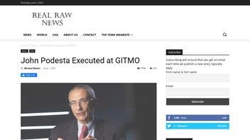 Fact Check: John Podesta Was NOT Executed At Gitmo