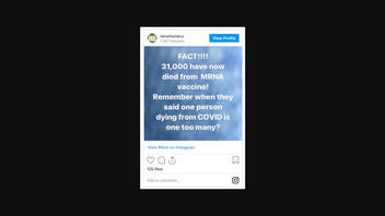 Fact Check: 31,000 People Have NOT Died From mRNA Vaccines