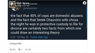 Fact Check: Studies Put The Rate Of Officer-Perpetrated Domestic Violence Between 5% and 40%