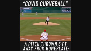 Fact Check: Dr. Fauci Did NOT Throw An Opening Day Pitch Six Feet From Home Plate