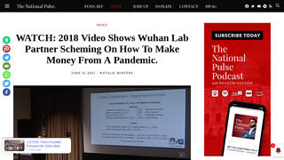 Fact Check: 2018 Video Does NOT Show Wuhan Lab Partner Scheming On How To Make Money From A Pandemic