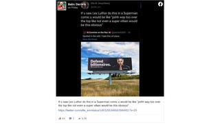 Fact Check: A 'Defend Billionaires' Billboard Featuring Elon Musk Was NOT Installed Along A Highway