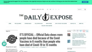 Fact Check: Official Data Does NOT Show More People Have Died From The Vaccines Than From COVID-19