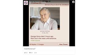 Fact Check: George Soros Did NOT Die On June 10, 2021