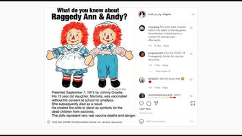 Fact Check: Raggedy Ann And Andy Dolls Were NOT Created To Symbolize Children Who Died From Vaccines