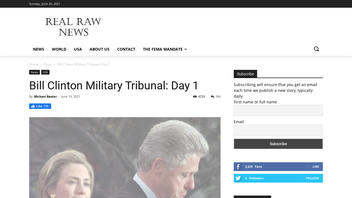 Fact Check: Bill Clinton Is NOT Facing A Military Tribunal At Guantanamo Bay