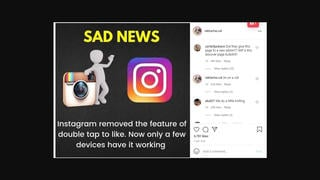 Fact Check: Instagram Did NOT Remove Double-Tap Feature For Most Users