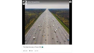 Fact Check: This Image Of A Massive Highway Is NOT The Katy Freeway In Texas