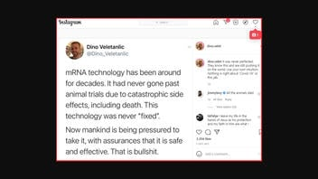 Fact Check: mRNA Vaccine Technology Does NOT Have Catastrophic Side Effects, Including Death