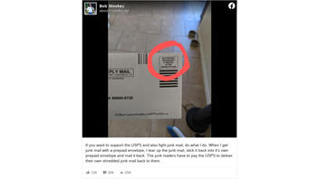 Fact Check: Junk Mailers DO Have To Pay USPS To Deliver Own Junk Mail Back To Them