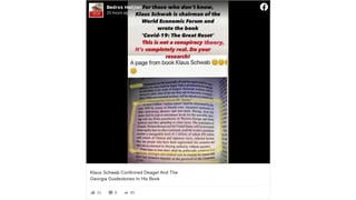 Fact Check: 'Useless Eaters' Text In Photo Is NOT From A Book By World Economic Forum Founder Klaus Schwab