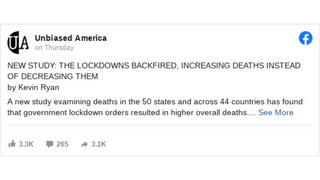 Fact Check: Headline Does NOT Accurately Summarize Status Of Research Into COVID-19 Lockdown Effectiveness
