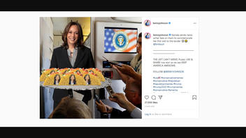 Fact Check: Kamala Harris Did NOT Serve Tacos That Featured Her Likeness To Journalists Aboard Air Force Two
