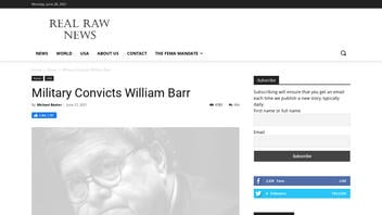 Fact Check: Military Did NOT Convict William Barr