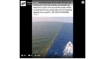 Fact Check: Photo Of Green Mississippi River Water Meeting The Gulf Is NOT A Good Sign