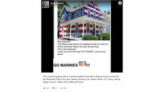 Fact Check: House Was NOT Painted American Flag Colors Because Owner Was Told He Could Not Fly American Flag All Year Long