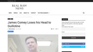 Fact Check: James Comey Did NOT Lose His Head To A Guillotine