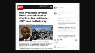 Fact Check: President Biden Did NOT Order U.S. Troops To Haiti After President Moise Assassination