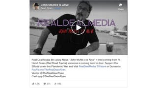 Fact Check: NO Proof In Video That John McAfee Is Alive