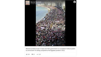 Fact Check: Picture Shows Egyptian Protests In 2011, NOT 2021 Protests In Cuba