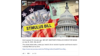 Fact Check: New Stimulus Checks Are NOT Planned In The U.S. As Of July 15, 2021