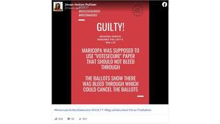 Fact Check: Ink Bleeding Through Ballots Did NOT Impact Vote Tallies in Maricopa County, Arizona