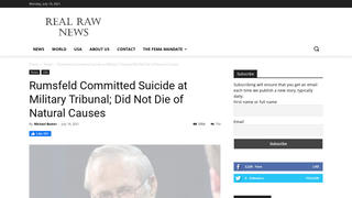 Fact Check: Donald Rumsfeld Did NOT Commit Suicide At A Military Tribunal