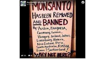 Fact Check: Monsanto Has NOT Been Banned In 15 Locations