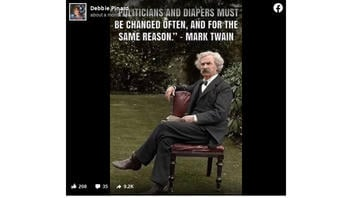 Fact Check: Quote About Politicians And Diapers Is NOT From Mark Twain