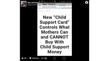 Fact Check: Delaware Does NOT Have 'Child Support Card' That Controls What Mothers Can Purchase