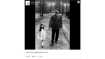 Fact Check: Photo Does NOT Show Nancy Pelosi Walking With Her Dad -- It's Hitler With Goebbels' Child, Years Before Pelosi's Birth