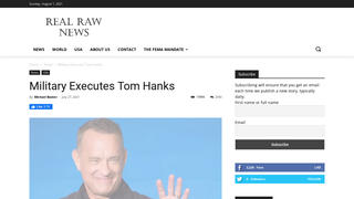 Fact Check: The Military Did NOT Execute Tom Hanks
