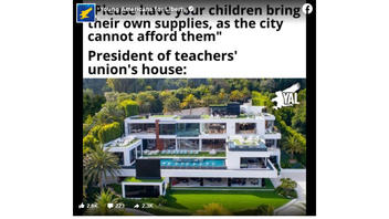 Fact Check: President Of A Teachers' Union Does NOT Live In This L.A. Mansion