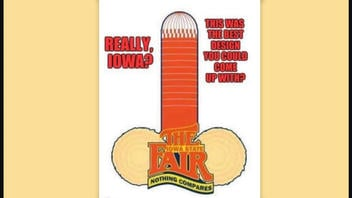 Fact Check: Suggestive Silo And Bales Is NOT Real Iowa State Fair Logo