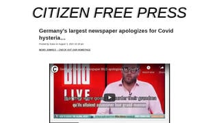 Fact Check: German Newspaper Bild Did NOT Apologize For 'Covid Hysteria'