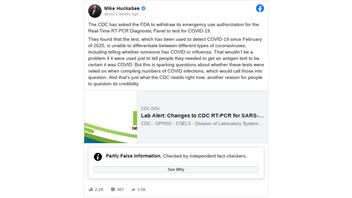 Fact Check: It Is NOT True PCR Test Failed To Distinguish Flu From COVID And That CDC Dropped FDA Application Because Of Errors